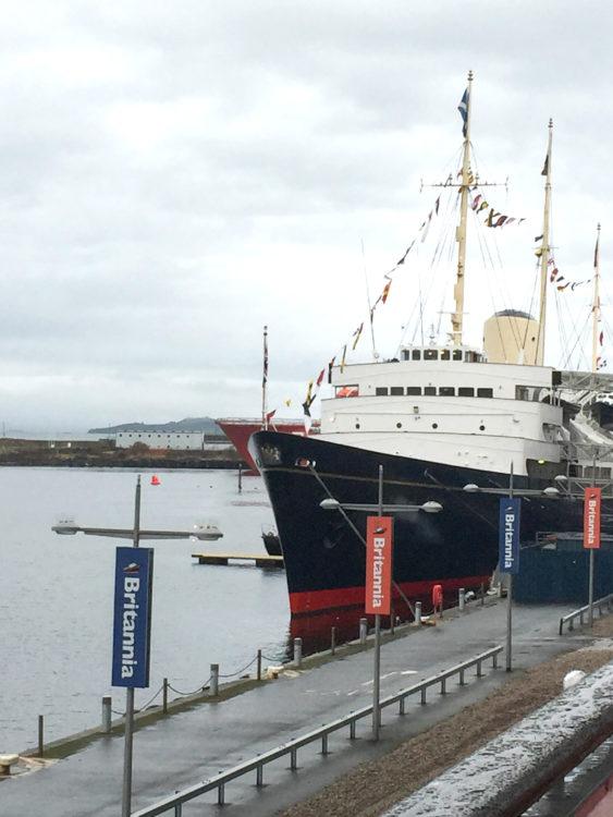 Matkan pää: Edinburgin Leithin satama.