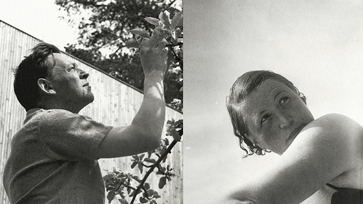 Alvar ja Aino Aalto nuorina perheen antamassa kuvassa.