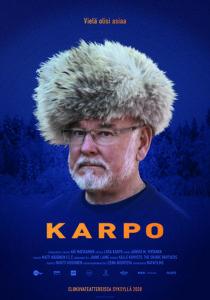 Hannu Karpo tuttu karvareuhka päässään elokuvan julisteessa.